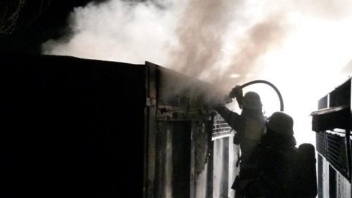 Papiercontainerbrand – Brandstiftung