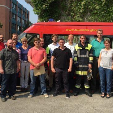 Glonner Jugend schult Münchner Firma zum Thema Brandschutz