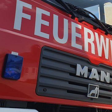 Brand landwirtschaftliches Fahrzeug in Baiern