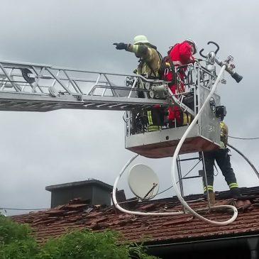 Dachstuhlbrand in Steinhöring