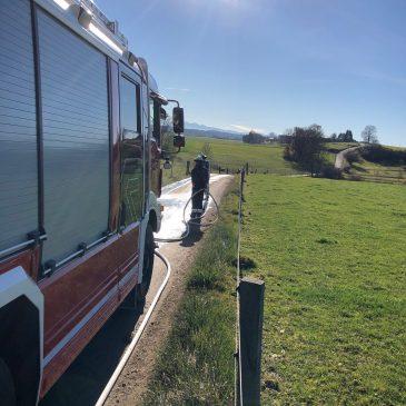 Gefahrstoff Gülle – Feuerwehr hilft!