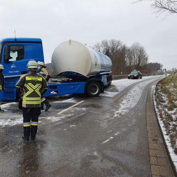 Verkehrsunfall am Glonner Berg